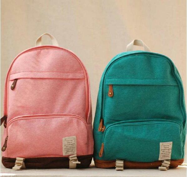 麻吉小舖:日本2013春夏新款針織棉布大容量舒適電腦包後背包書包旅行包-4色單售