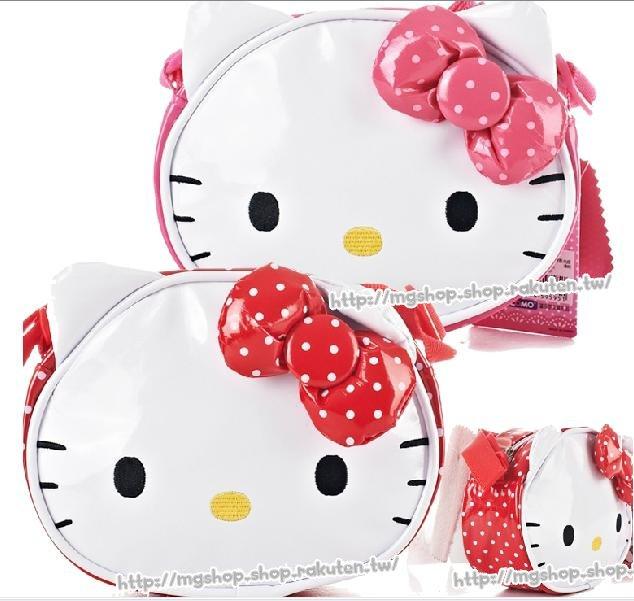正版 Hello Kitty  凱蒂貓 斜背包 旅遊包 臉型款-HK3022(2色/單售)