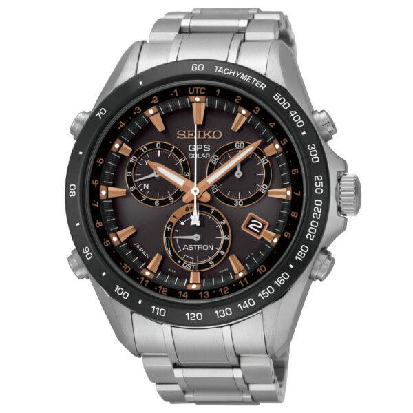 Seiko Astron 8X82-0AH0P(SSE033J1)時尚太陽能GPS校時腕錶/巧克力面44.6mm