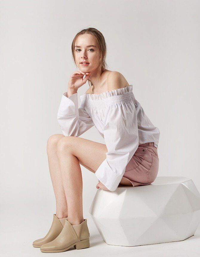 LINAGI里奈子【S692189】韓國代購短筒橡膠雨鞋女成人啞光歐美防滑切爾西雨靴 3