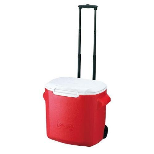 ├登山樂┤美國 Coleman 26.5L拖輪置物型冰桶/紅 #CM-0026JM000