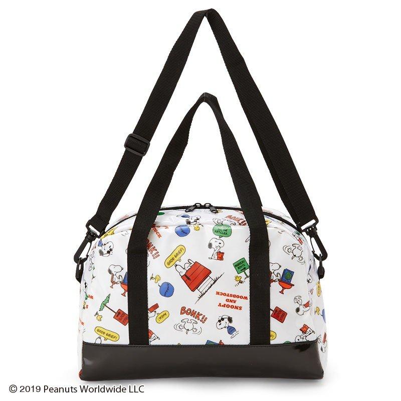 X射線【C297612】史努比 Snoopy 2用波士頓包,單肩斜背包/收納包/肩背包/郵差包/機能包/側背包