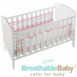 【淘氣寶寶】英國【BreathableBaby】透氣嬰兒床圍 兩側型 (19430森林花園款)