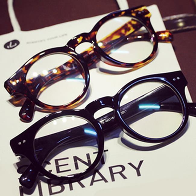 50%OFF SHOP~J021151GLS~ 復古米釘平光鏡2175 潮牌圓框眼鏡架 眼