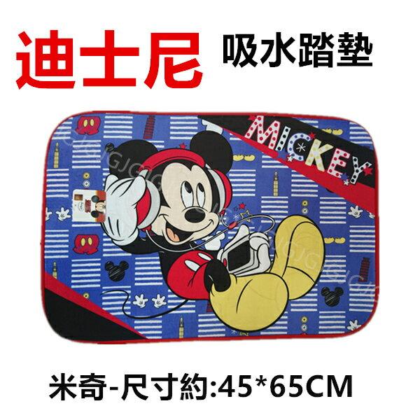 JG~米奇 迪士尼正版授權吸水踏墊尺寸約45*65CM 記憶踏墊 地墊 門口墊 止滑墊 寵物床墊超柔法蘭絨墊