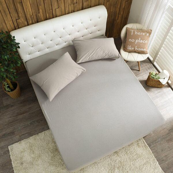 床包保潔墊防蹣防水針織床包雙人特大[鴻宇]-灰