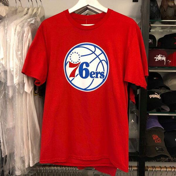 BEETLENBA費城76人BENSIMMONSEMBIID25紅文字短袖T恤TEEM2XL