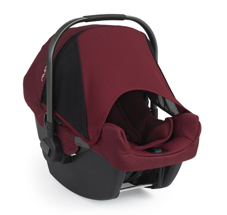 【贈聲光小貝貝+玩偶(隨機)】荷蘭【Nuna】Pipa 提籃式汽車安全座椅(莓紅色) 3
