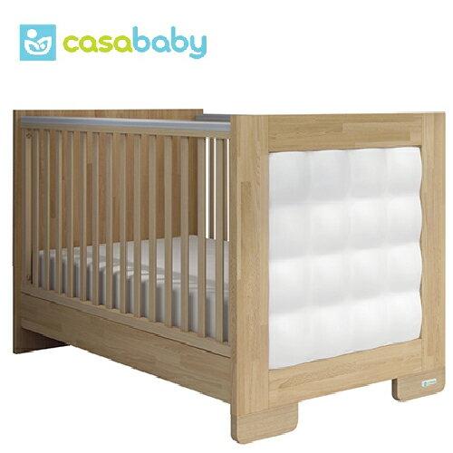 【贈成長泡棉床墊】希臘【Casababy】Pixel 二合一成長嬰兒床 - 原木色 - 限時優惠好康折扣