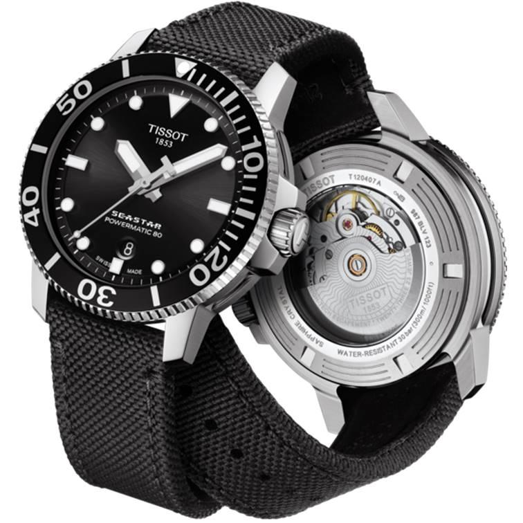 TISSOT 天梭 T1204071705100 Seastar 海洋之星陶瓷潛水80小時機械錶