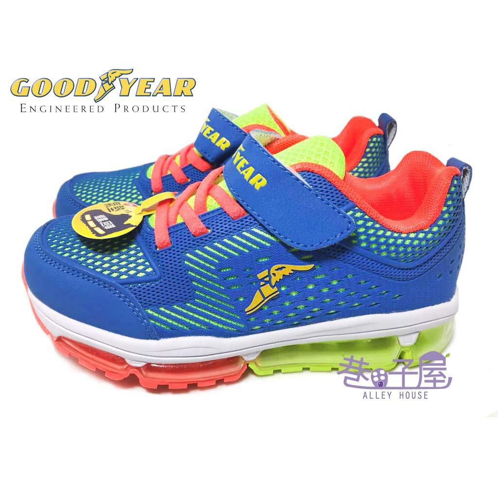 【巷子屋】GOODYEAR固特異 男童KPU全氣墊運動慢跑鞋 [58666] 藍綠 超值價$590