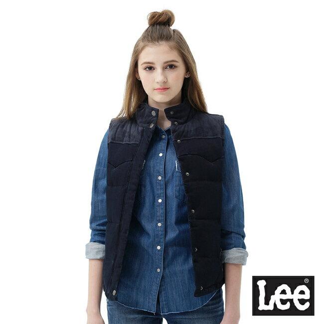 Lee 羽絨背心70/30/RG-藍黑色-女款