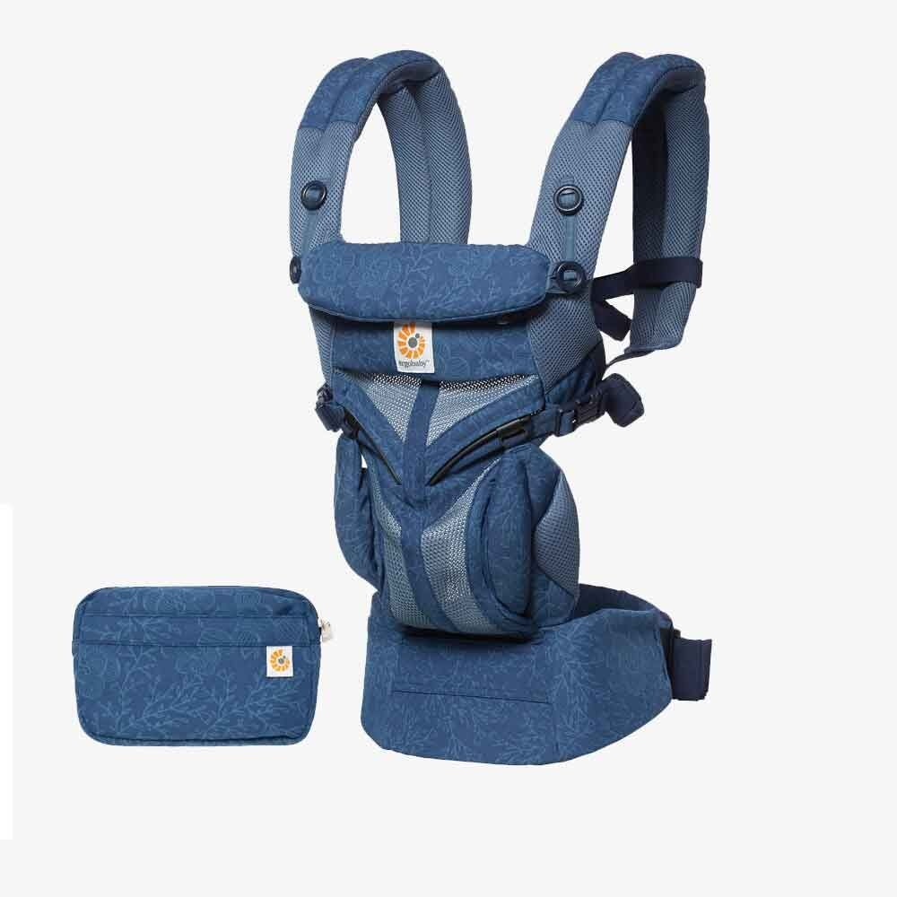 Ergobaby Omni全階段型四式360透氣款嬰兒揹巾/揹帶-藍色綻放