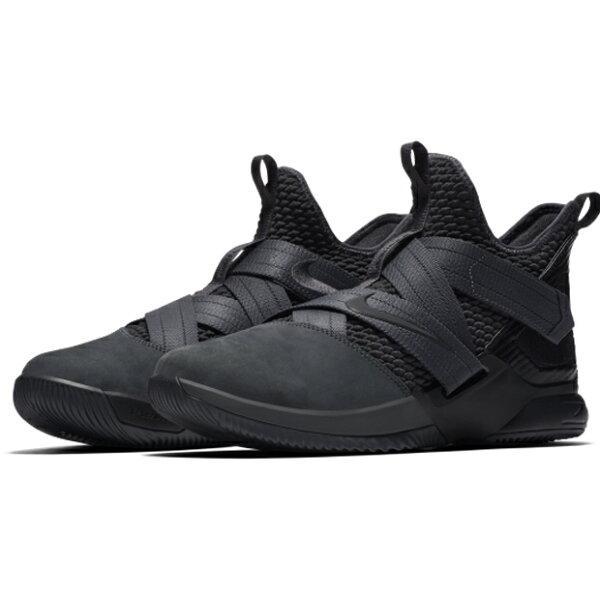 NikeLeBronSoldierXIISFGEP男鞋籃球士兵黑灰【運動世界】AO4055-002