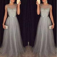 必勝顯瘦約會洋裝到雪紡無袖亮片禮服裙灰L就在Ordinary推薦必勝顯瘦約會洋裝