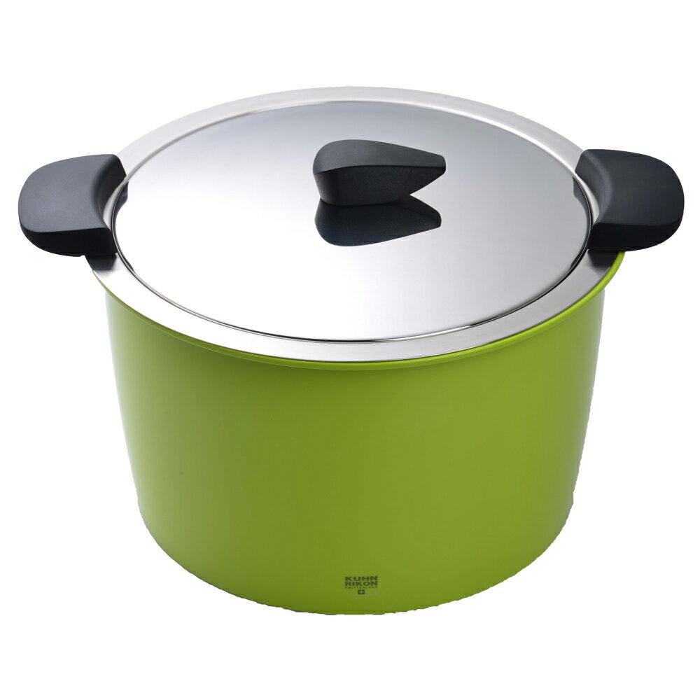 【瑞士Kuhn Rikon】 HOTPAN 休閒鍋 湯鍋 悶燒鍋 5L 綠色(kuhn rikon休閒鍋) 1