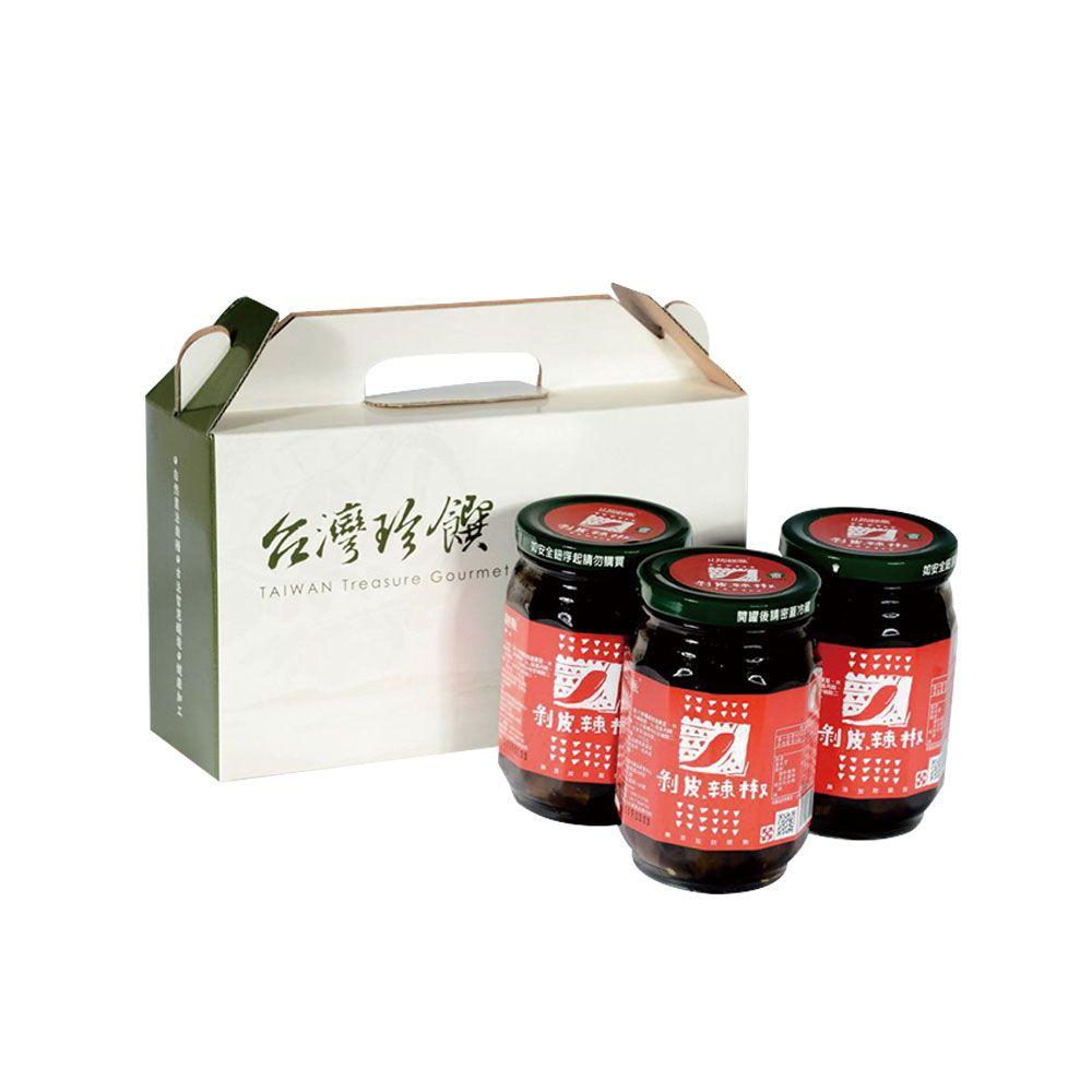 【台東縣農會】山海經脈-剝皮辣椒-440g-罐(1罐組)