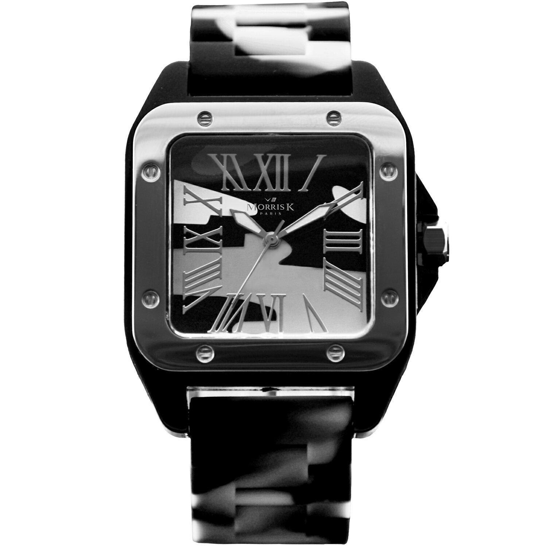 【Morris K】羅志祥代言 舞極限方型休閒潮流腕錶 迷彩 38mm-MK13015-CA03
