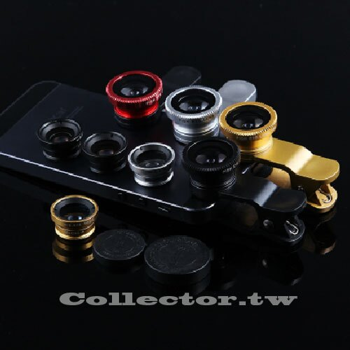魚眼廣角鏡頭三合一通用夾 自拍神器 手機廣角鏡頭 智慧型手機通用