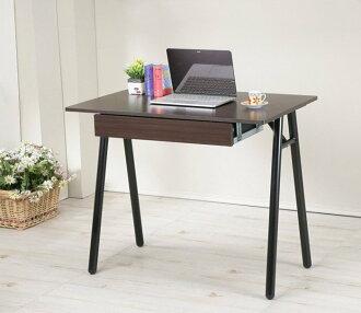 90公分A型防潑水工作桌(附抽屜) 電腦桌 書桌 餐桌【馥葉】【型號DE9060WA-DR】