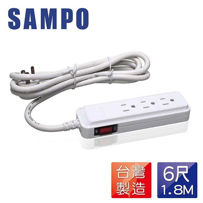 <br/><br/>  SAMPO-聲寶 延長線 SAMPO 單切3孔3座6尺延長線 #EL-U13R6T<br/><br/>