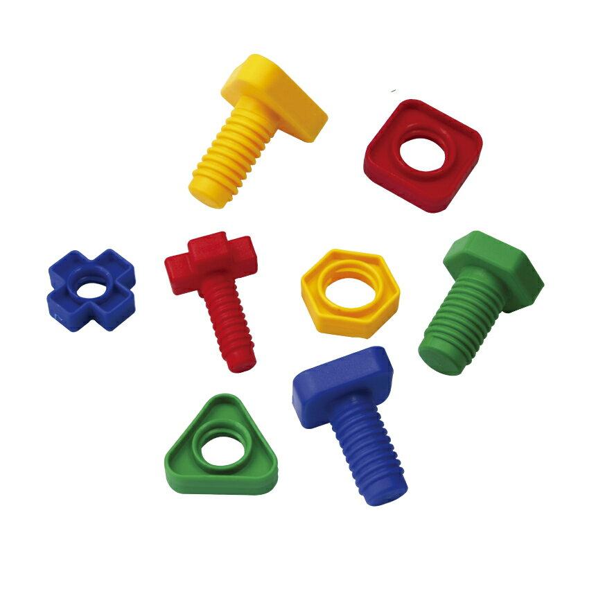 【華森葳兒童教玩具】建構積木系列-螺絲螺母 E10-B28