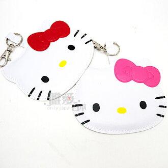 【真愛日本】13041700001 頭型皮質姓名吊牌-2色 三麗鷗 Hello Kitty 凱蒂貓 證件吊牌 正品