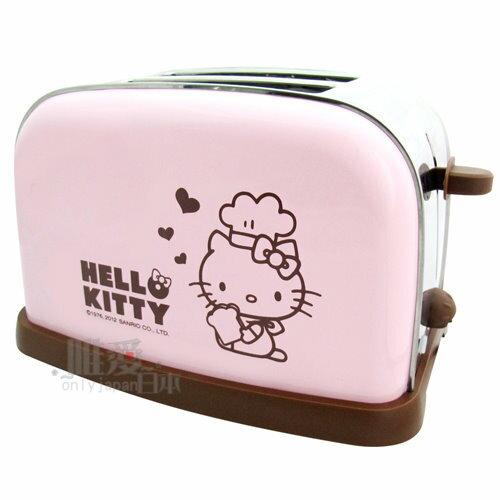 【唯愛日本】13050400001 烤麵包機-廚師粉 三麗鷗 Hello Kitty 凱蒂貓 廚房用品 烹飪用具 正品