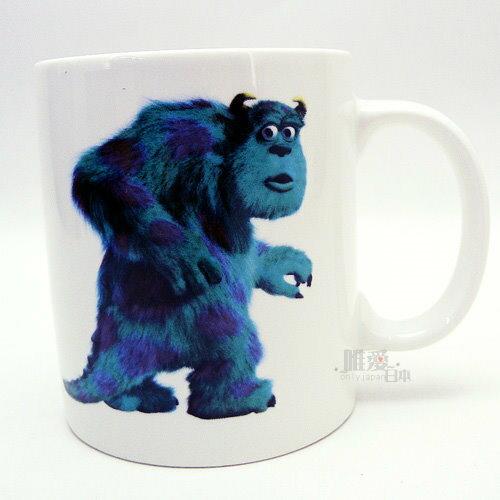 【唯愛日本】13060100004 馬克杯-毛怪單色 迪士尼 怪獸電力公司 咖啡杯 下午茶杯 正品