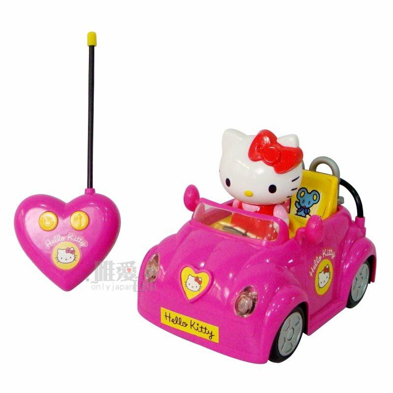 <KT 唯愛日本>12070400017 遙控小跑車 三麗鷗 Hello Kitty 凱蒂貓 玩具 初學玩具 幼兒玩具