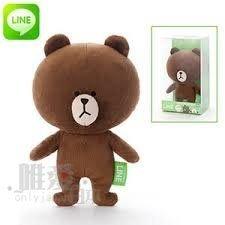 【真愛日本】13041100023 LINE絨毛娃娃-熊大 LINE公仔 抱枕 娃娃 公仔 正品