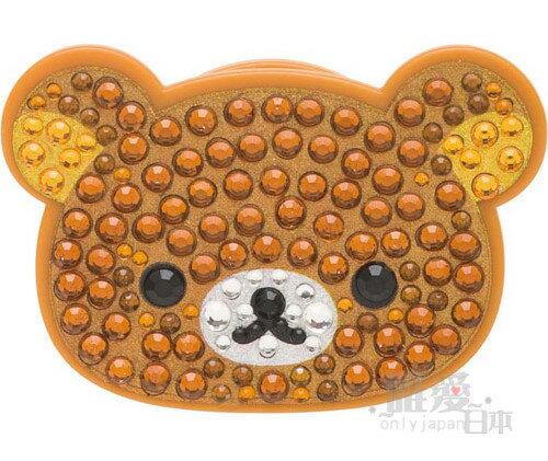 【真愛日本】 10112000058 水鑽臉耳機固定夾-懶熊 SAN-X 懶懶熊 奶熊 捲線器 集線器 日本帶回