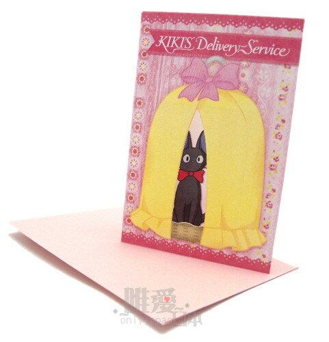 <宮崎駿會館>A*11012800028 魔女宅急便 黑貓 奇奇貓 小卡片-奇奇鳥籠 日本帶回