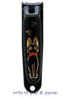 魔女宅急便周邊商品推薦<宮崎駿會館>A*0081900006 魔女宅急便 黑貓 奇奇貓 不鏽鋼指甲剪 袋子 日本製 日本帶回