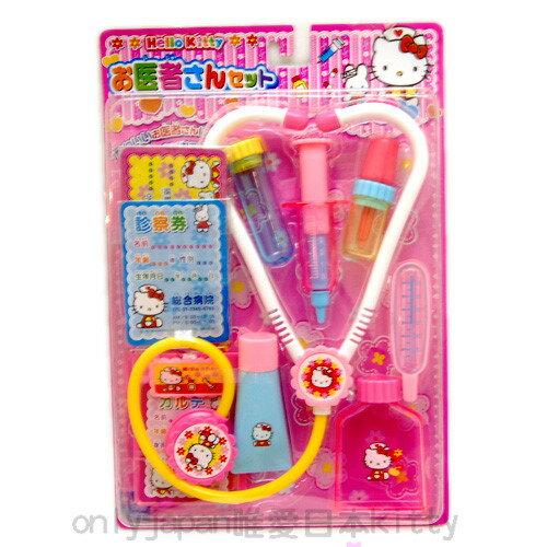 【真愛日本】5060600056醫生玩具-KT聽筒 Hello kitty 凱蒂貓 扮家家酒
