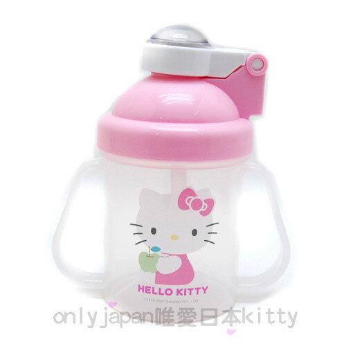【真愛日本】8100600003三麗鷗 Hello kitty 凱蒂貓 幼兒自動彈跳練習杯 H722 台灣製