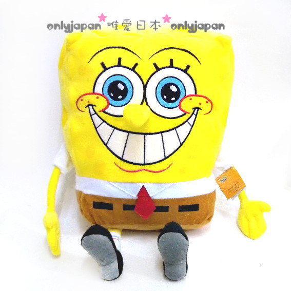 <唯愛日本>8101900032 海綿寶寶 海綿寶寶開心笑全身娃娃 絨毛玩具 布偶 玩偶