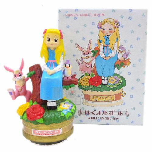 ~*唯愛日本*~D11052700017 旋轉音樂鈴-蜂蜜與四葉草 蜂蜜與幸運草 陶製 原版進口