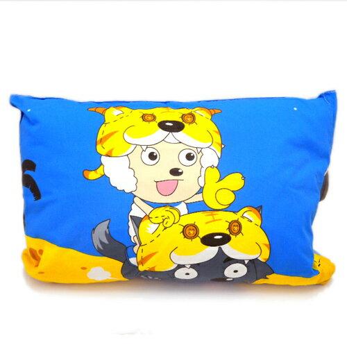 ~*唯愛日本*~B 11080100020 童枕-喜洋洋 熱門卡通 喜羊羊與灰太郎 午睡診 兒童枕 台灣製