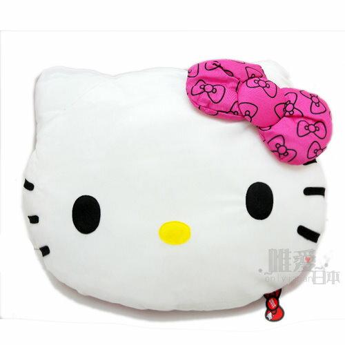【真愛日本】 11080200007 頭型抱枕-桃底多蝴蝶結 三麗鷗 Hello Kitty 凱蒂貓 靠墊 坐墊 2011景品