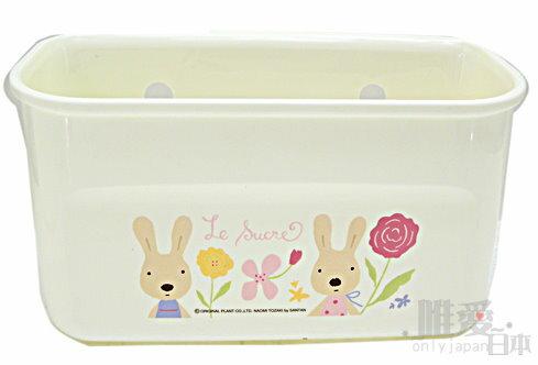 *le sucre la creme法國兔*D 11090900013 吸盤沐浴罐架-花草L 收納架置物架 韓國製