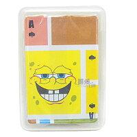 海綿寶寶週邊商品推薦~*唯愛日本*~B 11102100004 塑膠撲克牌-設計版 海綿寶寶 13變表情撲克卡 正版授權