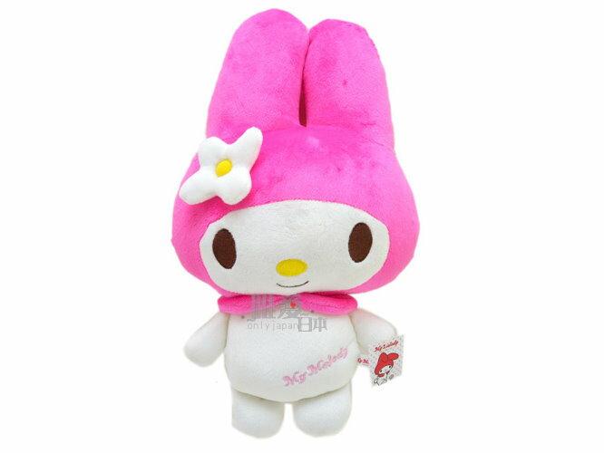 【真愛日本】 11122700001 14吋全身立娃-桃 三麗鷗 Melody 美樂蒂 39公分正版絨毛玩偶