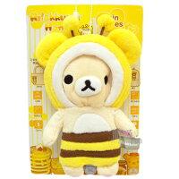 拉拉熊背包/包包/後背包推薦到~*唯愛日本*~B 12011400075 變裝蜜蜂公仔絨毛零錢包-奶熊 SAN-X 懶懶熊 拉拉熊 奶妹吊飾 正版就在真愛日本推薦拉拉熊背包/包包/後背包