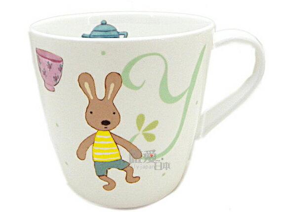 *le sucre la creme法國兔*A 12011600094 英文字母馬克杯-Y 姓名茶杯水杯牛奶杯 日本製造