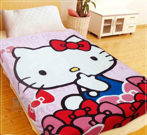 < 唯愛日本> 12101000004 超纖被-我愛蝴蝶結 三麗鷗 Hello Kitty 凱蒂貓 被子 薄毯 台灣製