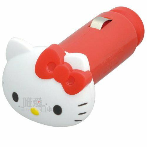【真愛日本】13100700017 掀蓋LED燈車用充電器 三麗鷗 Hello Kitty 凱蒂貓 車用充電器