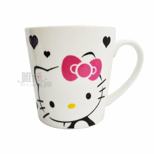 【唯愛日本】13102200014 陶瓷馬克杯400ML-愛心 三麗鷗 Hello Kitty 凱蒂貓 咖啡杯 歐美授權