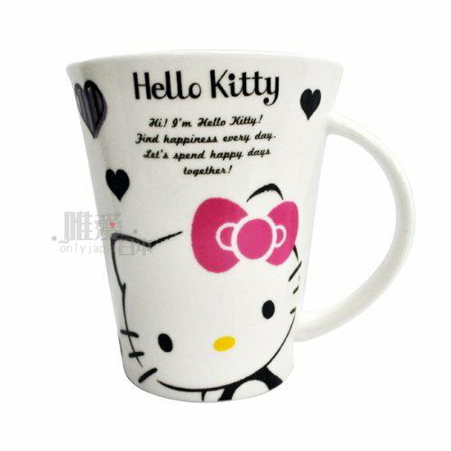 【唯愛日本】13102200015 陶瓷馬克杯370ML-愛心 三麗鷗 Hello Kitty 凱蒂貓 咖啡杯 歐美授權