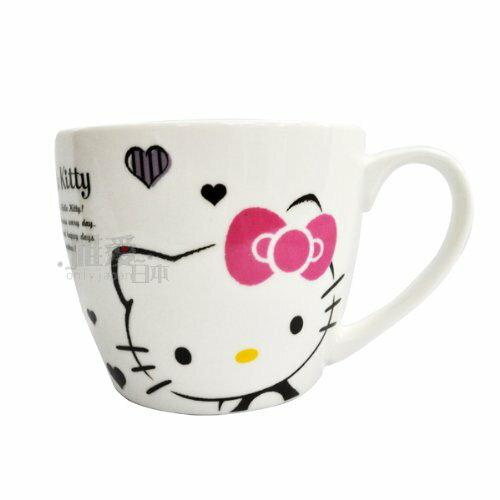 【唯愛日本】13102200016 陶瓷湯杯420ML-愛心 三麗鷗 Hello Kitty 凱蒂貓 咖啡杯 歐美授權